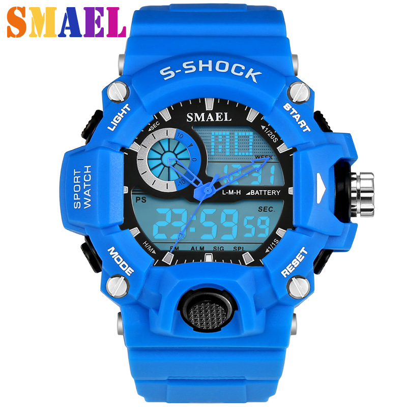 2018 Hot Men Silicone Sport Watch G style S Shock 50M Waterproof Mens LED Sports Watches Relogio Masculino Electronic Wristwatch fashion waterproof mens sports watches relogio masculino 2016 men silicone sport watch shockproof electronic wristwatch