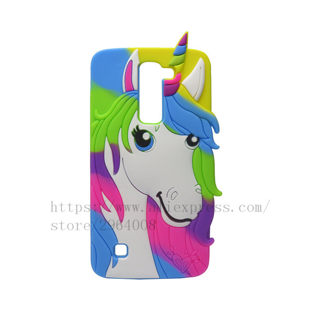 reputable site 3dc7c 11161 US $4.09  TRISEOLY For Coque LG K7 Q7 Unicorn Silicone Phone Cases 3D  Rainbow Horse Cartoon Cover For LG K7 X210ds X210 ds LG K7 Bags on ...
