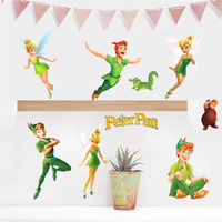 10pcs/Pack Peter Pan Wall Stickers Fairy Tale 3D Decals Wallpaper Decor 021 Free Shipping Customized custom accepta