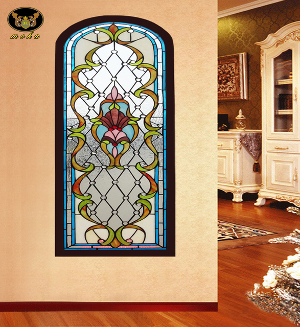 Custom entrance hallway wall partition wall paintings wood chip ...