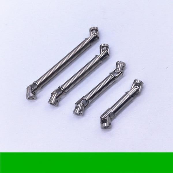 1PCS 1/14 1/24 Steel CVD Universal Joint Drive Shaft for 1/10 RC Rock Crawler Car Axial SCX10 D90 3*3/ 3*4/ 4*4mm Flexible Shaft steel drive shaft joint cvd 110 155mm