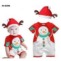 Retail Girl Christmas Dress Long Sleeve Snowman Boy Jumpsuit Girls Dress Christmas Costume Children Clothes Baby