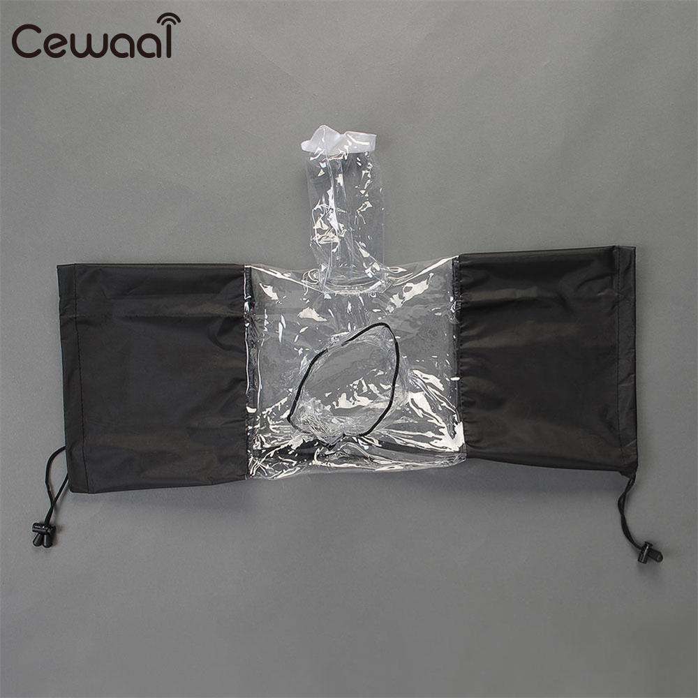 Cewaal Professional Waterproof Rainproof Dust Sand Proof Rain Cover Protector for Nikon Canon Camera Camcorder Cam Accessories