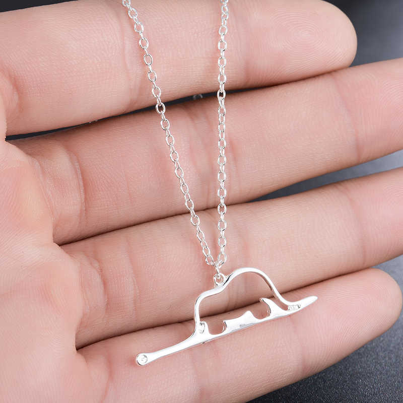 Yiustar New Fashion Little Prince Necklace for Women Girls Jewelry Le Petit Prince Charms Necklace Snake Elephant Necklace