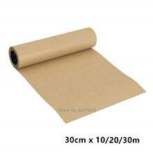 Rolo de papel de embrulho para festa de aniversário, rolo de papel marrom de 10/20/30m para casamento, embalagem de presente artesanato papel de desenho de papel decoração casa