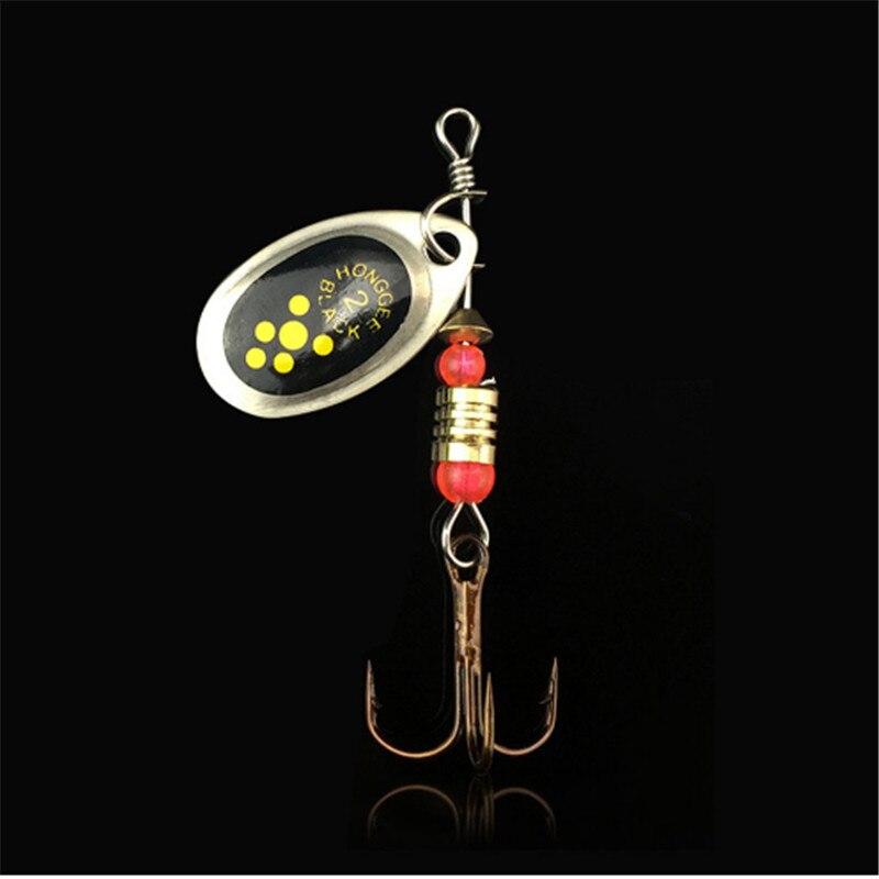 1pcs Hooks Spinner Spoon Metal Lures Rotating 6CM/2.5g Fishing Lure Sequins Crankbait Hooks For Bass Pike Wobbles Tackle 3pcs lot 6cm 2 5g fishing lure hook spinner spoon lures rotating metal sequins bait hooks peche jig anzuelos de pesca