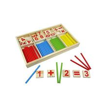 Digital Game Wooden Sticks Montessori Math Intelligence Preschool Educational Toy for Children Teaching Aid Sets