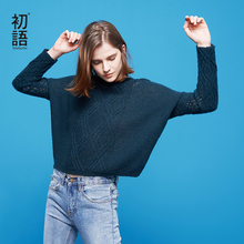 Toyouth 2018 Autumn Sweater for Women Vintage Hollow Out Knitted Blouse Crop Sweater Long Sleeve Loose Pullovers Tops for Female