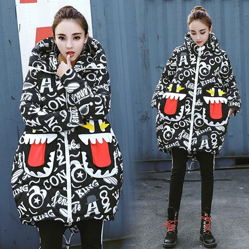 Winter   Parkas   Women 2018 fashion New Long thicken Warm Hip-hop style Jacket Coat Casual hooded outwear   Parka   coat M-2XL