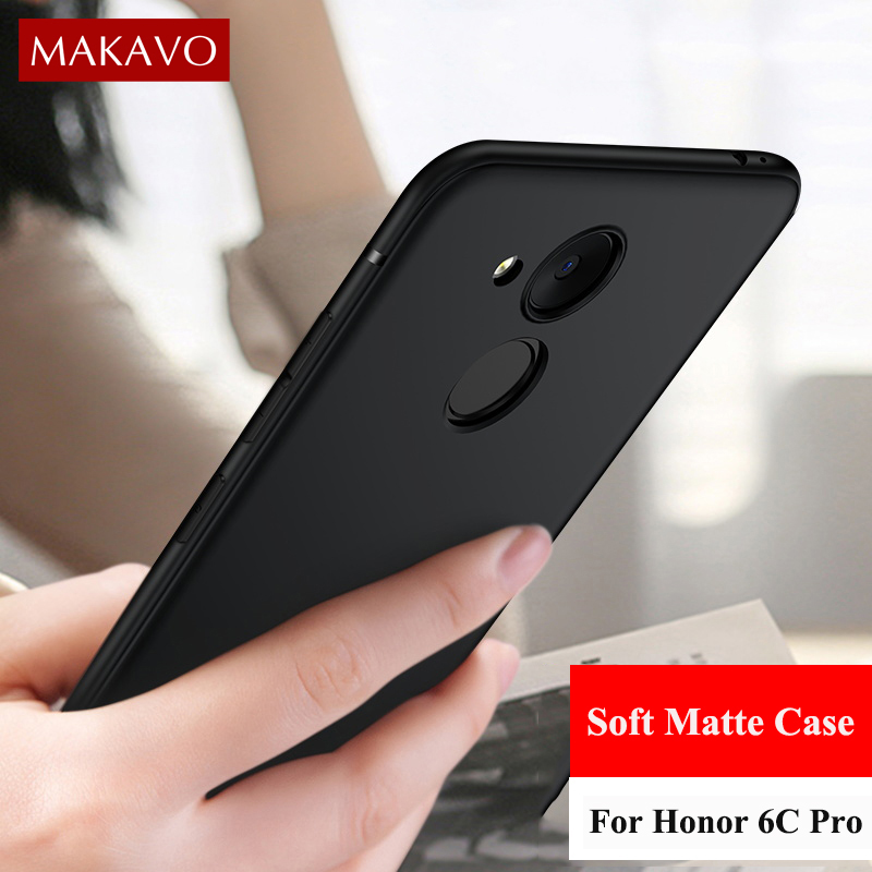 MAKAVO Case For Huawei Honor 6C Pro 5.2Inch 360 Protection Soft Silicone Matte Phone Cases For Honor V9 Play