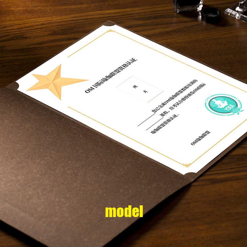 カッコウ 1 個名誉証明書印刷 A4 最小ボーダーブロンズインナーコア紙証明書ページ賞を受賞したクリエイティブ