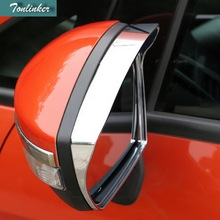 Tonlinker 2 PCS DIY Car Styling ABS Chrome Special Rearview Mirror Rain Eyebrow stickers for Ford Ecosport 2013 2014 Accessories