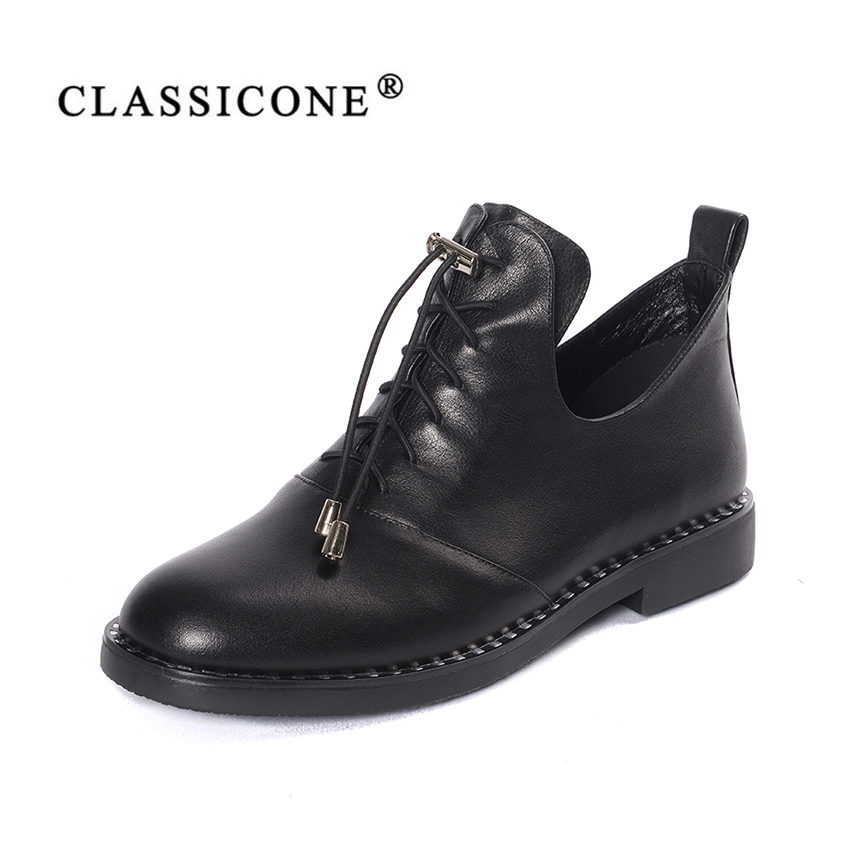 women shoes woman scoop casual spring autumn summer flats with genuine leather fashion black brand Lace-Up style sexy CLASSICONE alluring lace spliced scoop neck women s cover up