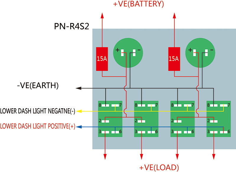 4 Gang Boat Rocker Switch Panel Dual USB Cigarette Lighter Socket ...