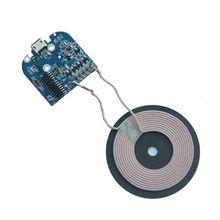 Micro Qi Drahtlose Ladegerät PCB Board Sender modul + Spule Lade für Universal Android Apple telefon