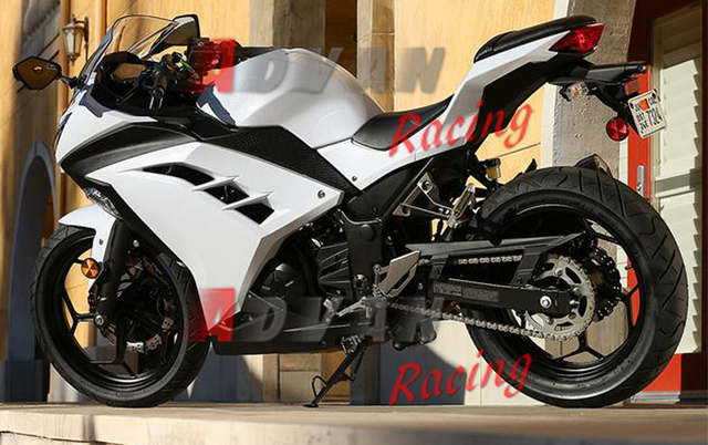 מתוחכם NEW HOT White Injection Fairings Bodywork Set Kawasaki Ninja 300 NH-17
