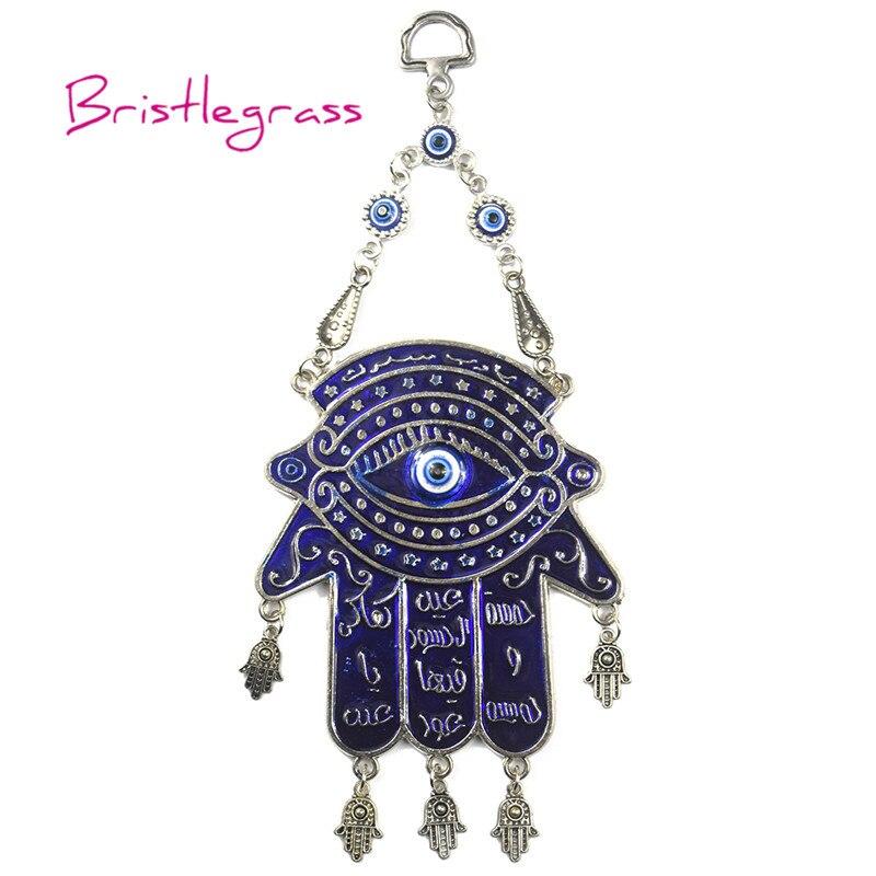 BRISTLEGRASS Turkish Blue Evil Eye Hamsa Hand Amulets