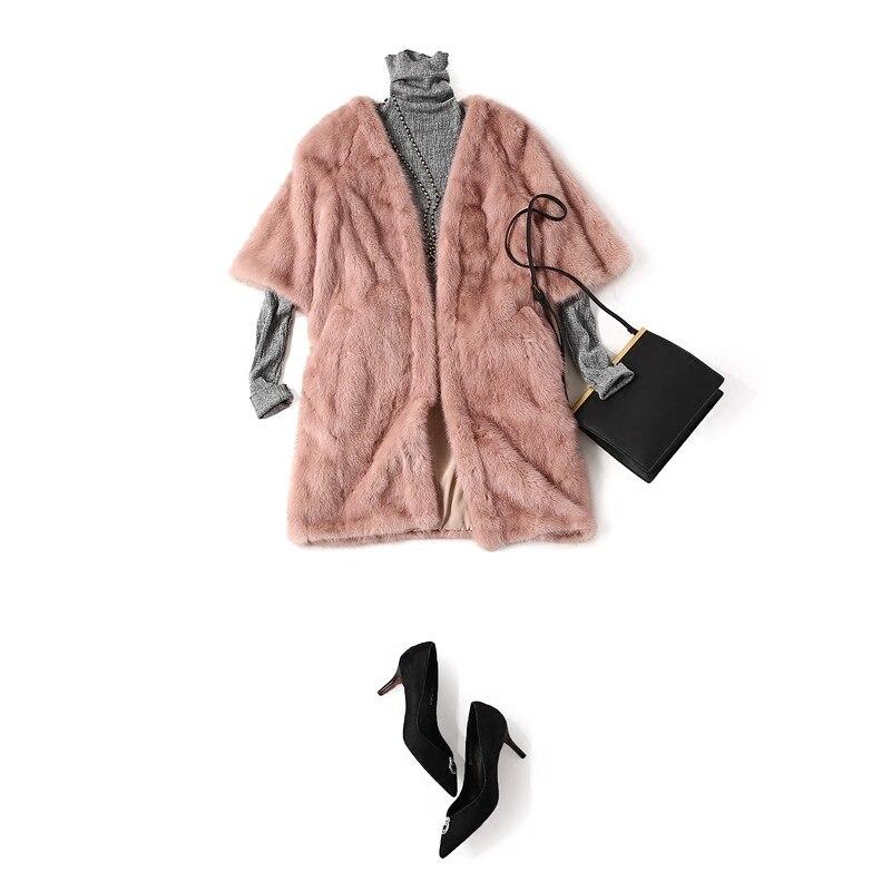Arlenesain custom pink mink fur grateful coat 583 583