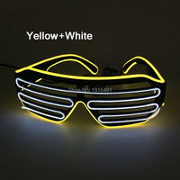 Newest Brand Euramerican Favor Party Decor Glittery EL Wire Trendy Glasses Holiday Lighting LED Neon Glasses