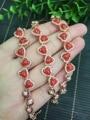 Verdadeiro 925 prata esterlina elegante encantador bonito certificada naturais pulseira coral vermelho para mulheres belas jóias 4*6mm