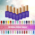 Shiny Glitter Colors Nail Gel Soak off UV gel Nail Polish Long-lasting Soak-off LED Hot Nail Gel 15ml Nail Art Diy