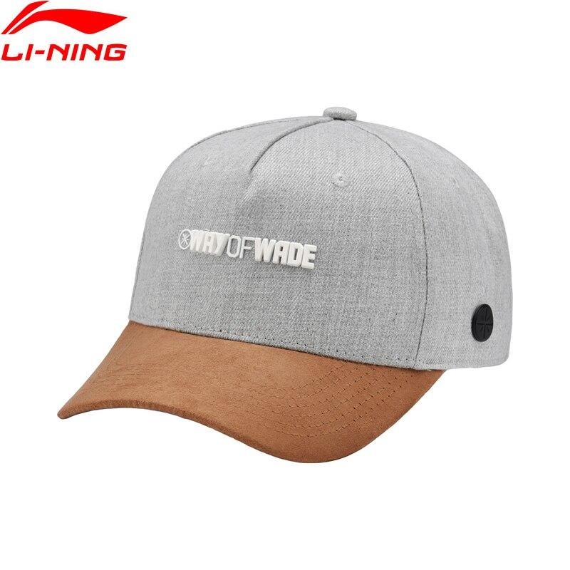 Li-Ning Men Wade Series Sports Cap 100% Polyester 56-60 Cm Sunshade Adjustable LiNing Sport Hats AMYN111 EJAS18