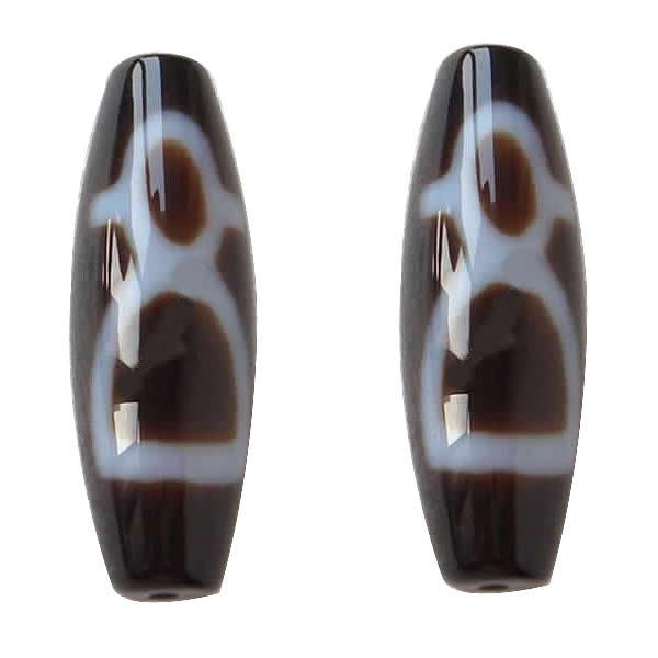 цены на Natural Tibetan Dzi Beads , Oval, god of wealth & two tone, Grade AAA, 13x39mm, Hole:Approx 2mm в интернет-магазинах