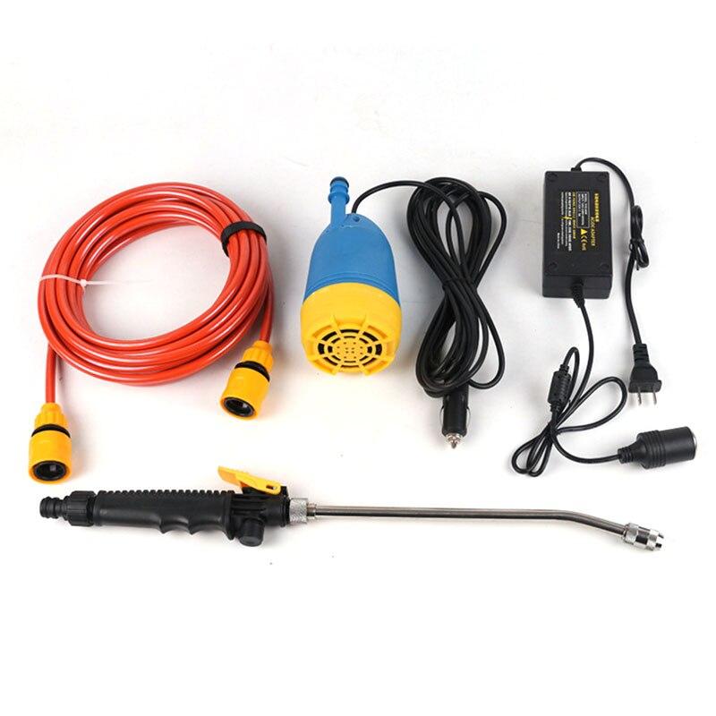 Haute tension puissance 12 V 80 W auto-amorçage électrique pompe de lavage de voiture stockage de l'eau 4L voiture machine à laver