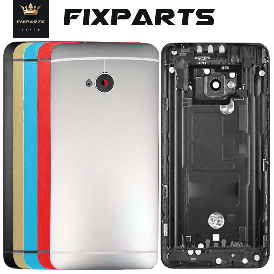 For HTC One M7 801e 801n  Battery Cover Door Back Housing Rear Case For HTC ONE M7 Battery Door  Replacement Parts