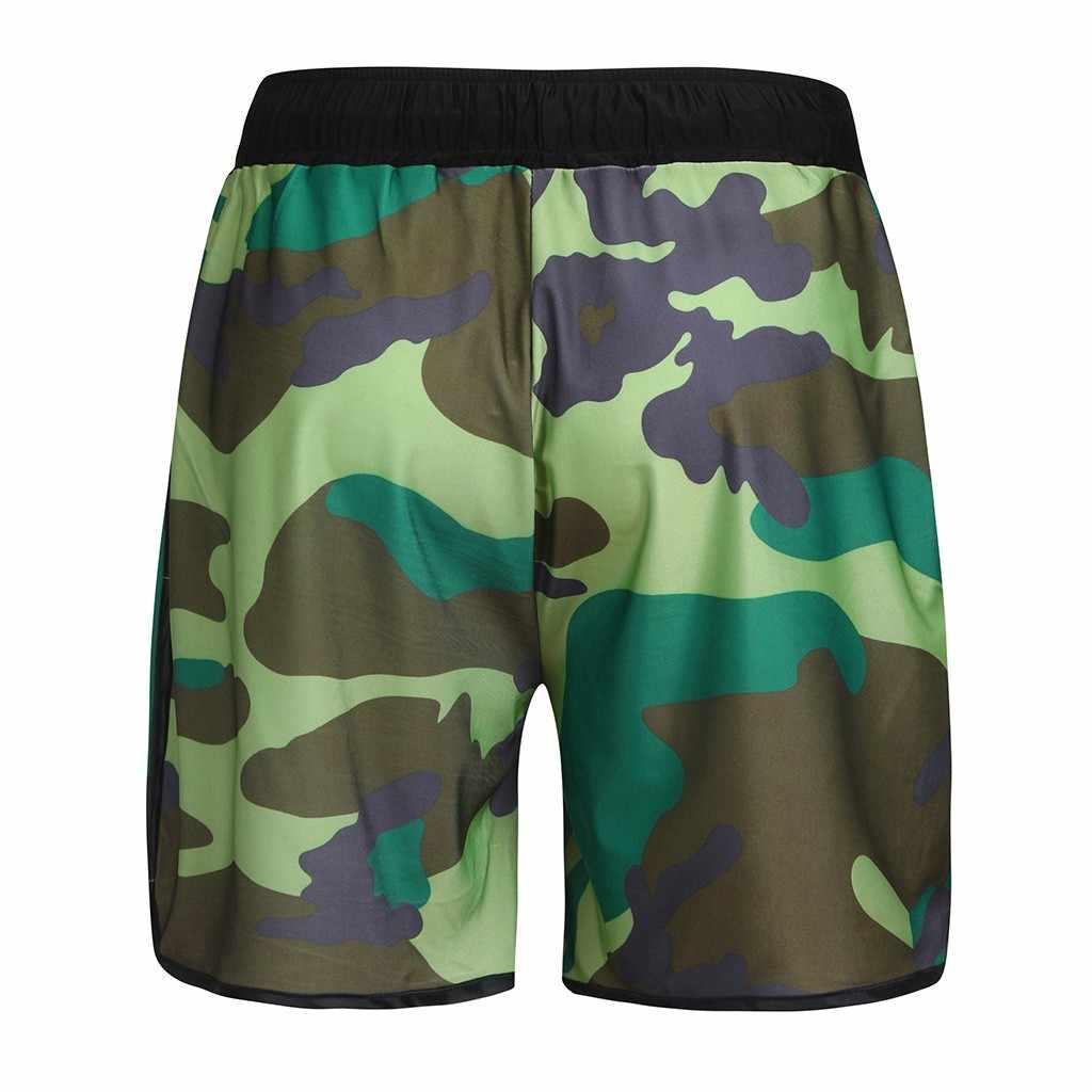 Camuflaje traje de los hombres pantalones cortos de natación bañadores CHAMSGEND Surf playa deporte homme baño zwembroek hombre Sunga imprimir