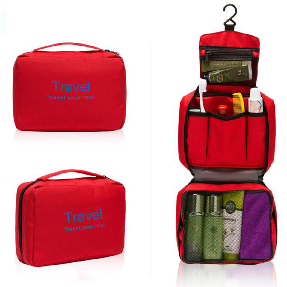 Hanging Travel Cosmetic Bag Women Zipper Make Up Bags Polyester High Capacity Makeup Case handbag Organizer Storage Wash Bag     (3)