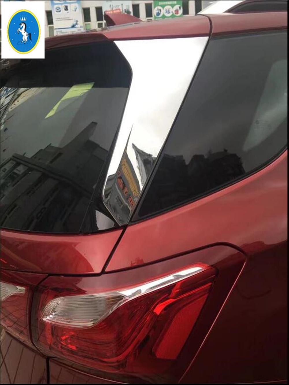 Yimaautotrims авто аксессуар задние окна полоса крышка комплект отделка 2 шт./компл. подходит для Chevrolet Equinox 2017 2018 2019 2020