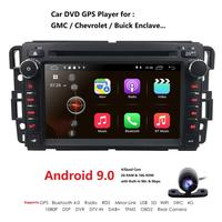 2DIN Android 9.0 GPS navigation Car DVD Player For GMC Yukon Tahoe 2007 2012 multimedia radio recorder 2GB+16GB GPS WIFI EQ DSP