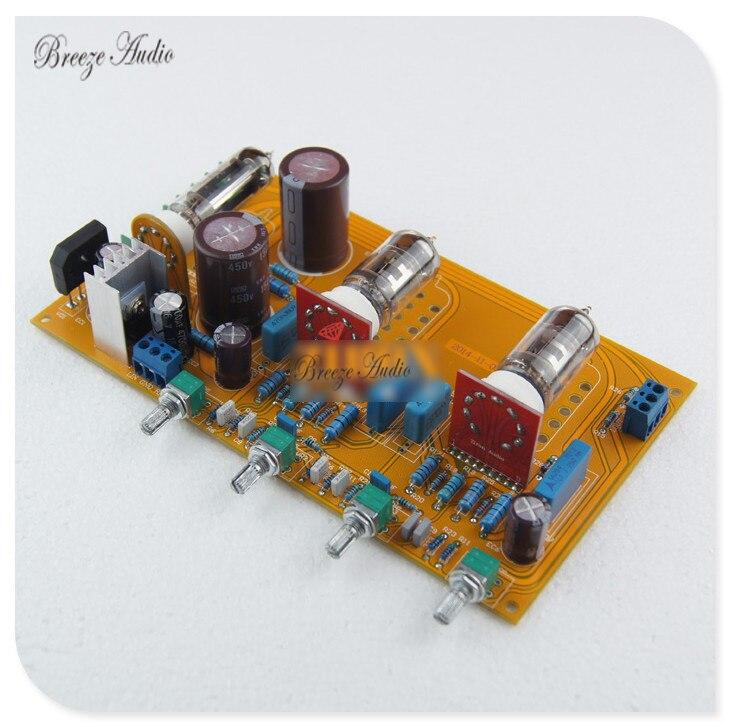 Breeze audio YT0012 Dagende 12AX7 (ECC83) X2 Gal Gelijkrichter Buis Tone Board-in Versterker van Consumentenelektronica op  Groep 1