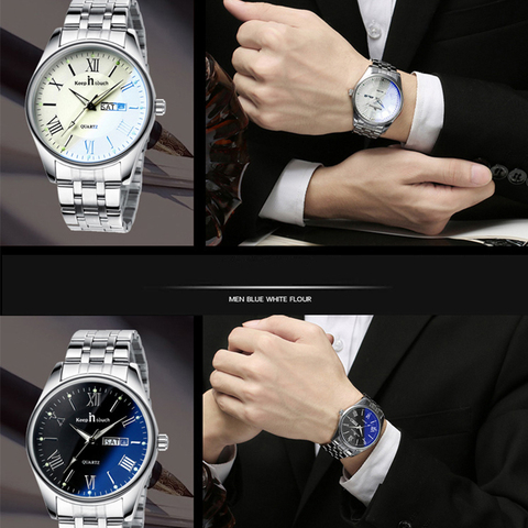 KEEP IN TOUCH Wedding Couple Watches for Lovers Steel Waterproof Gifts Couples Watch Man and Ladies Dress Men Clock Reloj Hombre Multan