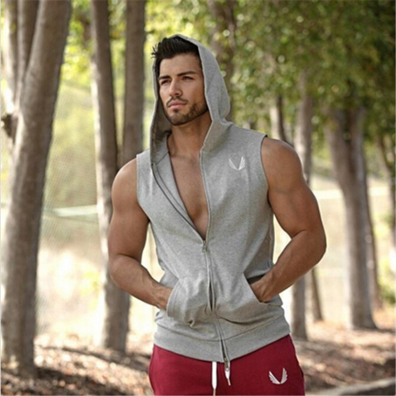 Mens-Gym-Shark-Hoodie-Singlets-Sweatshirts-Mens-Tank-Tops-Stringer-Bodybuilding-Fitness-Men-s-GYM-Tank