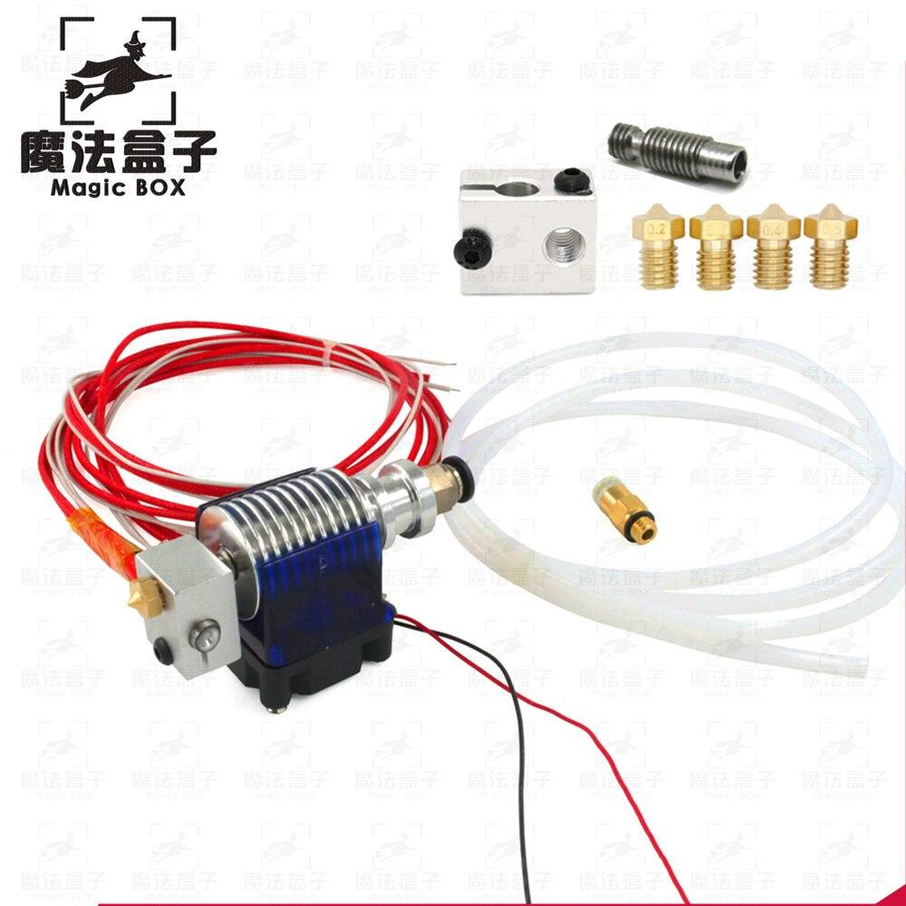 3D Printer 24v or 12v J-head Hotend 3D V6 with Cooling Fan for 1.75mm/3.0mm Direct Filament Wade Extruder 0.2/0.3/0.4mm Nozzle 1set cooling fan 3010 12v 30x30x10mm with injection moulded fan duct cooling fan 5 blades for 3d printer extruder v6