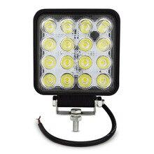 48 w llevó las luces del BAR 16 led spot luz de inundación lámpara de exterior linterna led de la niebla lámpara de luz para la minería CAMIÓN OFFROAD 4WD 4X4 12 v
