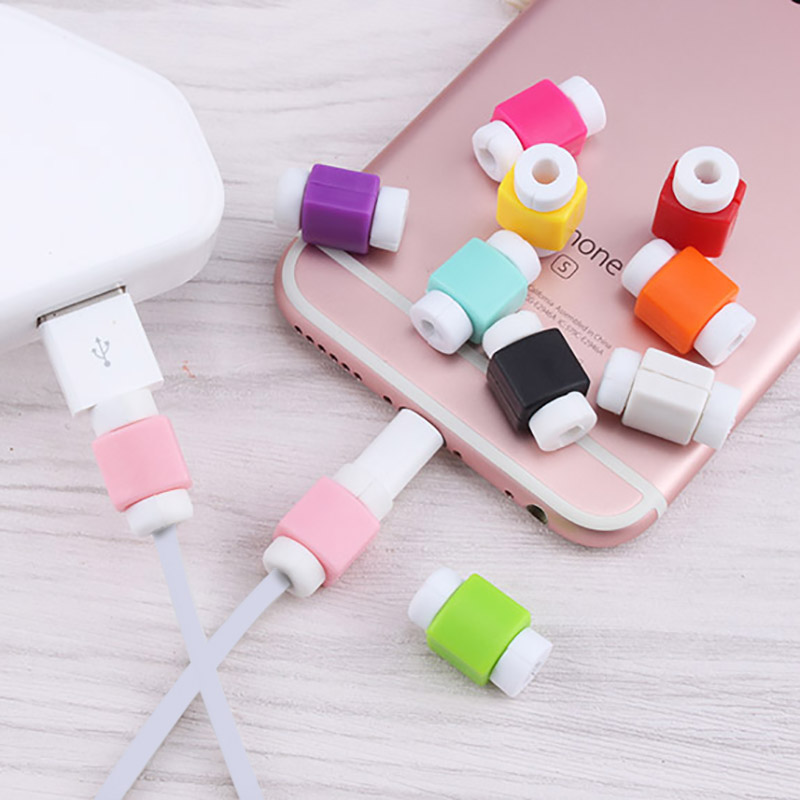 2016 Best Sellers USB Charging Cable Protector Saver Colorful Cover for Apple iPod iPhone SE 5 5s 6 6s Plus Data cable Protector