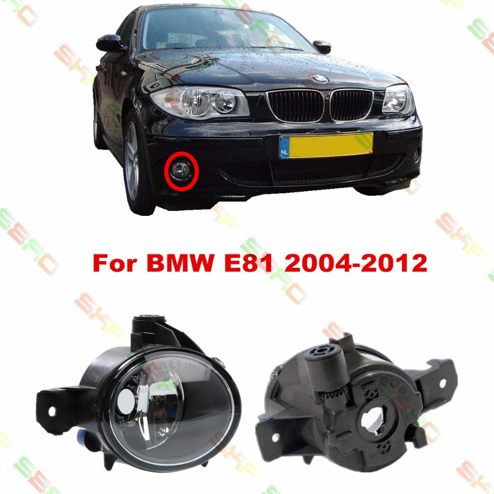 For BMW E81  2004/05/06/07/08/09/10/11/12  car styling fog lights   1 SET FOG LAMPS yatour car digital music cd changer aux mp3 sd usb adapter 17pin connector for bmw motorrad k1200lt r1200lt 1997 2004 radios