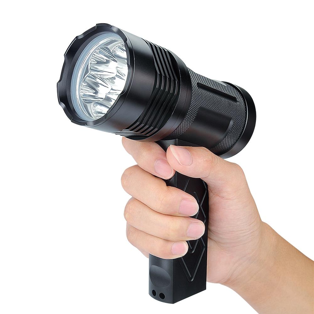 UniqueFire jusqu'à 6000 Lumens lampe de poche LED T19-6 * XML2 haute puissance 18650 lampe torche, 5 Modes, poignée, étanche, alliage d'aluminium