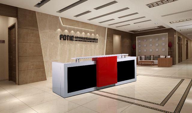 Information Desk Design aliexpress : buy 3.4 m red white wood information table desk