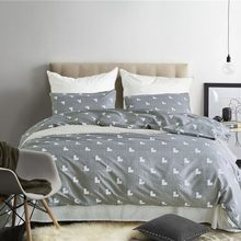 Pastoral Style Bedding Set King Size Bedclothes Geometric Heart Sanding Pillowcase Duvet Cover Sets Bedroom Home Textiles(China)