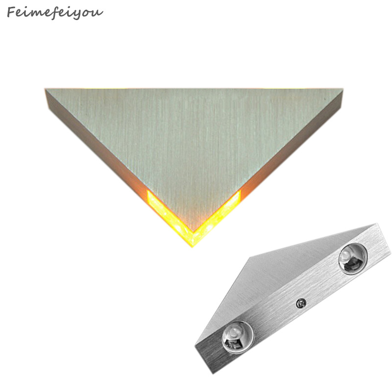 Feimefeiyou DIY led bar multi-colors 3W lampada led Aluminum Body Triangle Wall Light For Home Lighting Luminaire Wall SconceFeimefeiyou DIY led bar multi-colors 3W lampada led Aluminum Body Triangle Wall Light For Home Lighting Luminaire Wall Sconce