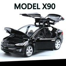 High Simulation 1:32 Tesla MODEL X 90 Alloy Car Model Diecas