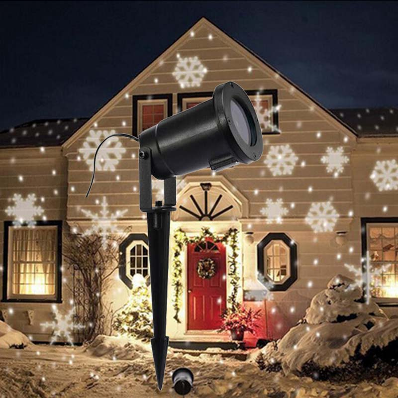 new led snowflake christmas projector landscape lighting outdoor xmas tree garden wedding party decorate light waterproof lights in outdoor landscape
