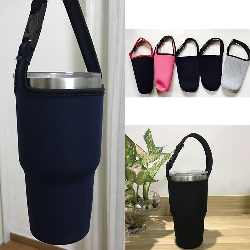 Переносной изолированный контейнер для воды, чашка для напитков, кулер, чехол для переноски, случайный цвет