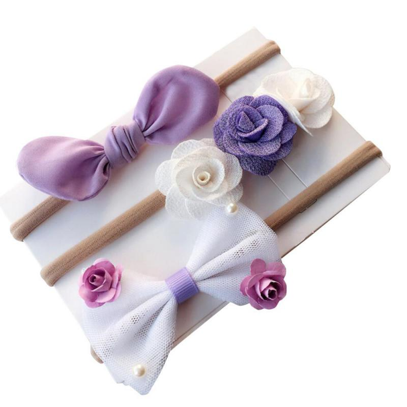 3/piece sets Newborn children's girls toddler flower headband hairpin baby supplies   headwear   boys children gifts F1