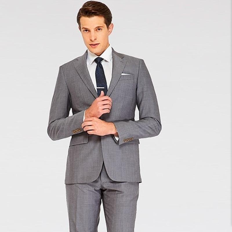 font b men b font tuxedo for wedding groom wear mid gray custom made font