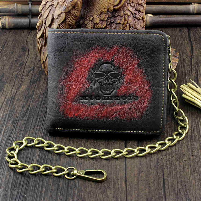 GENUINE LEATHER VINTAGE SKULL WALLET